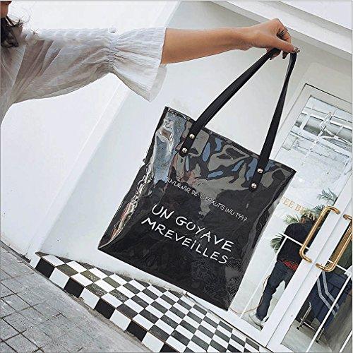 Coreano Bolso Verano de de Compras Caqui GuoFeng Casual Papel Bolso de Bolso Color Black Bolso de de Estilo Hombro Kraft gEEwxzRaq