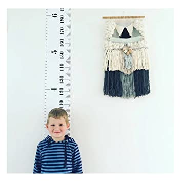 Amknn Kinder Raum Wand Holz Rahmen Stoff Lineal Baby Höhe Wachstum Zum  Aufhängen Herrscher Kinderzimmer Dekoration