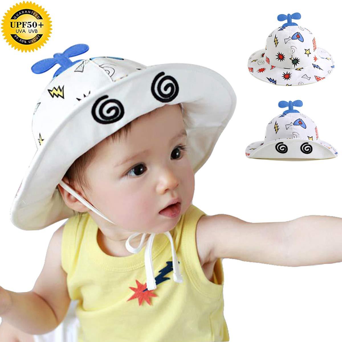 Baby Sun hat Summer Beach hat Toddler Hats for Boys Bucket hat Cotton UV Hat S-TYM002
