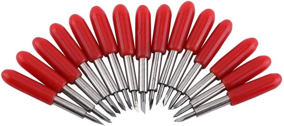 Cuchilla de Vinilo - Cuchillas de trazador de 15pcs / 45 Grados para Roland Plotter Cutter con Tapa roja: Amazon.es: Electrónica