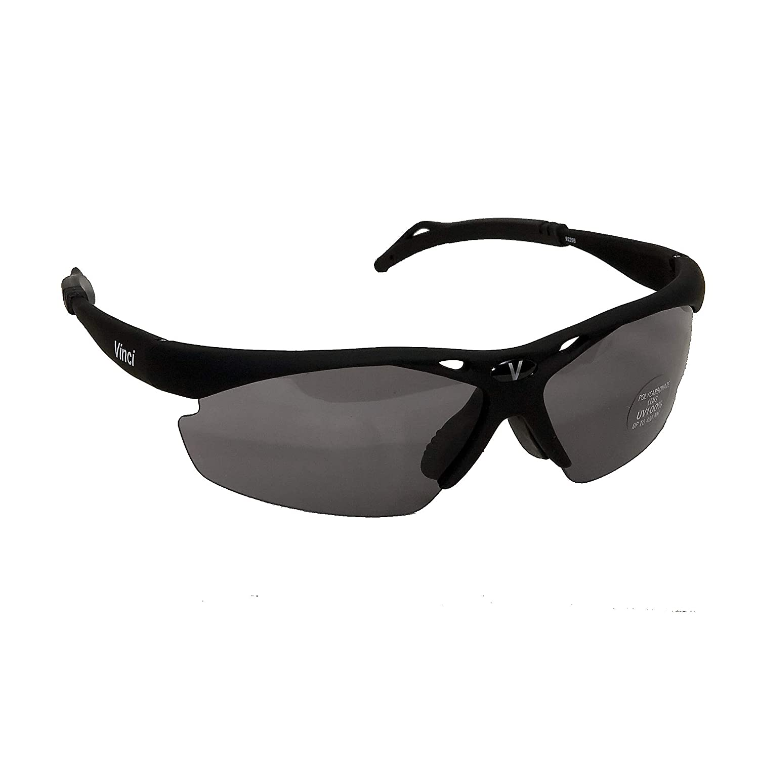 Vinci Black Multilens Sport Sunglasses for baseball, cycling, running and many more