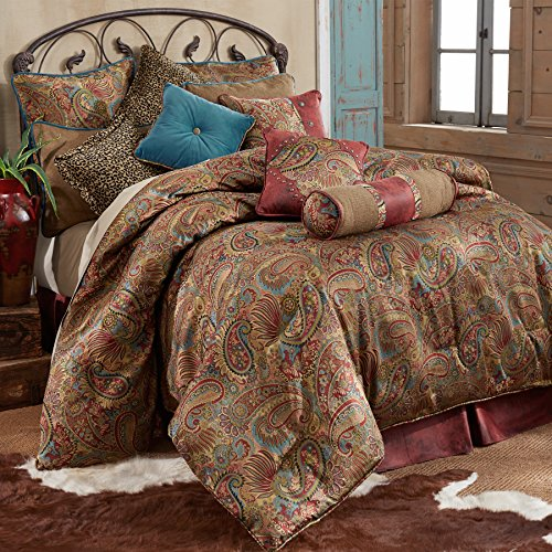 HiEnd Accents San Angelo Western Comforter Set with Red