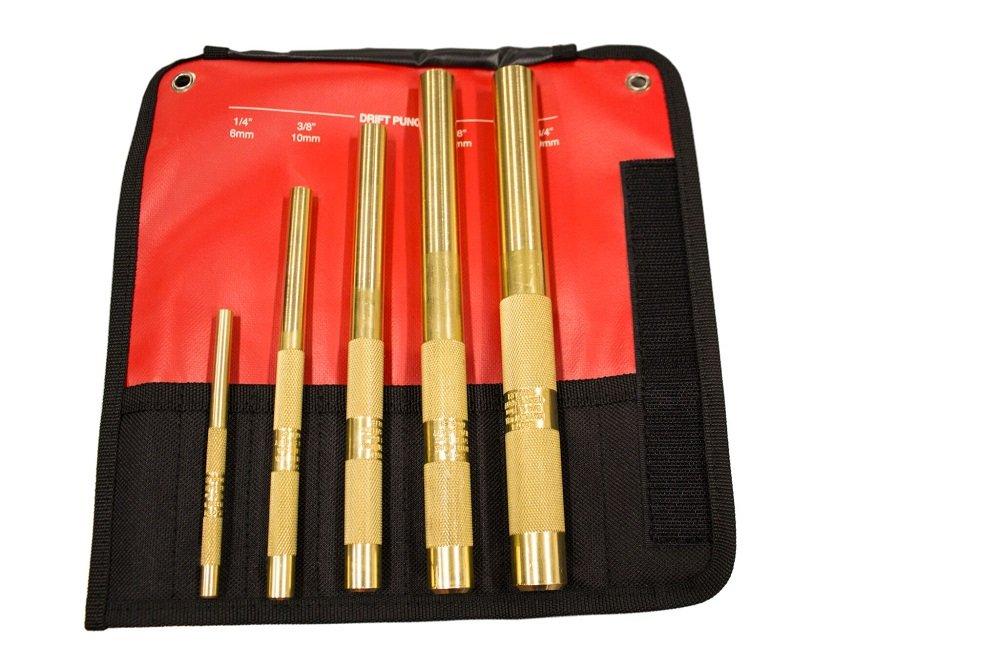 Mayhew Tools 67003 5 Piece Brass Drift Punch Set