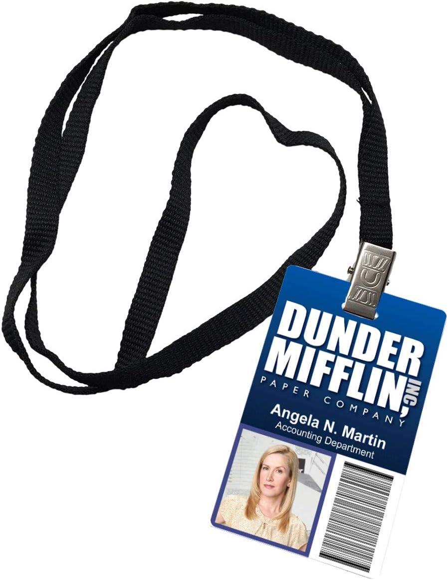 Angela Martin Dunder Mifflin Inc. Novelty ID Badge The Office Prop Costume
