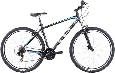 Adventure bicicleta 29 MTB Mario Schiano, NERO/BLU: Amazon.es ...