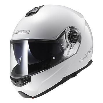 LS2 Casco Moto FF325, Blanco, XXS