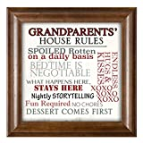 Grandparents' House Rules 12 x 12 Woodgrain Framed Wall Art Plaque