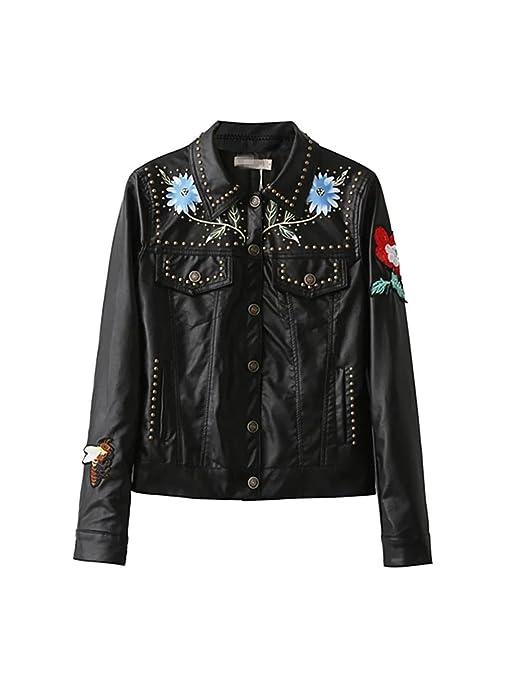 Giacca Donna Abbigliamento in Pelle di Punk Classico