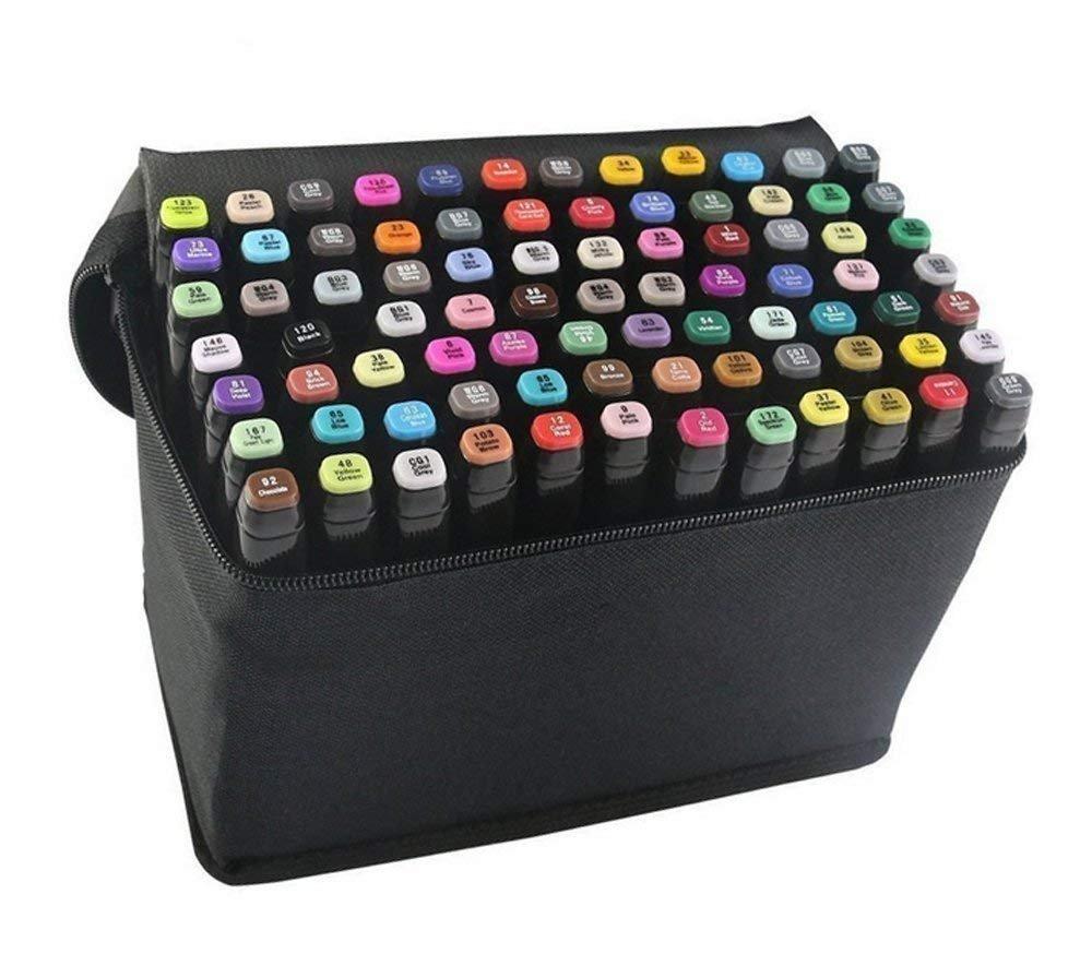 Romana 80 PCS Twin Markers Pen per Disegnare, Evidenziatore Marcatore, Marker Colori Pennarelli di Doppia Punta (1mm/5.5mm)