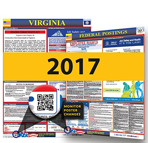 Osha Workplace Poster (2016 Virginia State & Federal Labor Law Posters for Workplace)