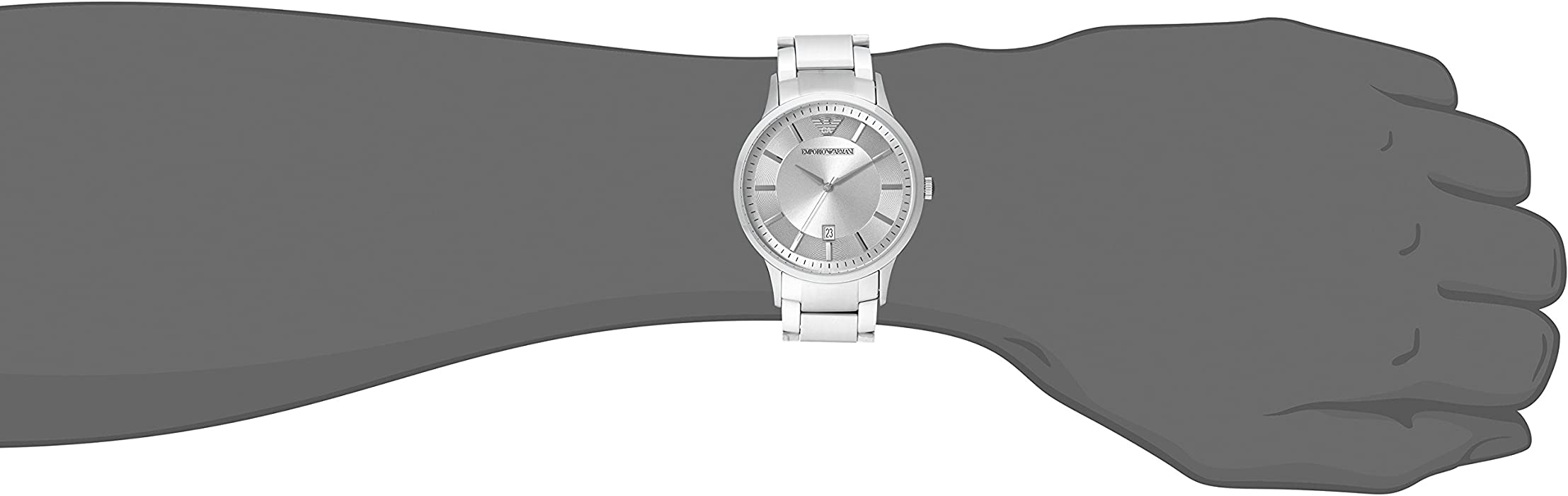 Mens AR2478 Dress Silver Watch. Emporio Armani ...