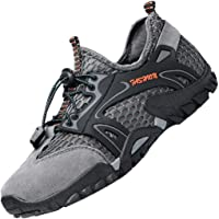 LOUECHY Men's Ponrea Mesh Hiking Shoes Breathable Water Shoes Trekking Sandals Outdoor Sneakers