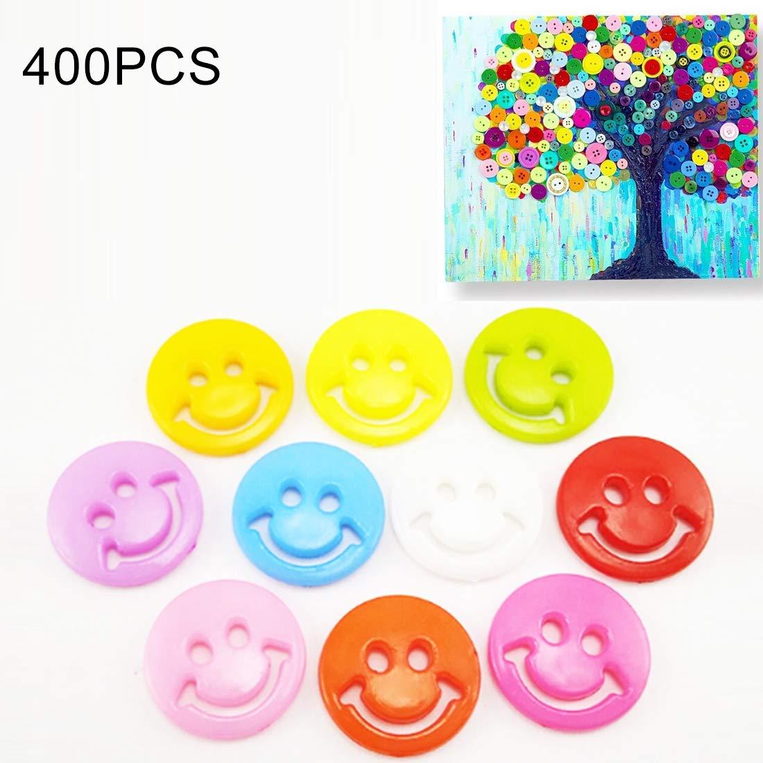 Tangyongjiao Home Decorative Supplies 400 PCS Smile Face Resin Children Sweater Buttons Sewing Buttons in Bulk, Random Color, Diameter: 12.5mm by Tangyongjiao