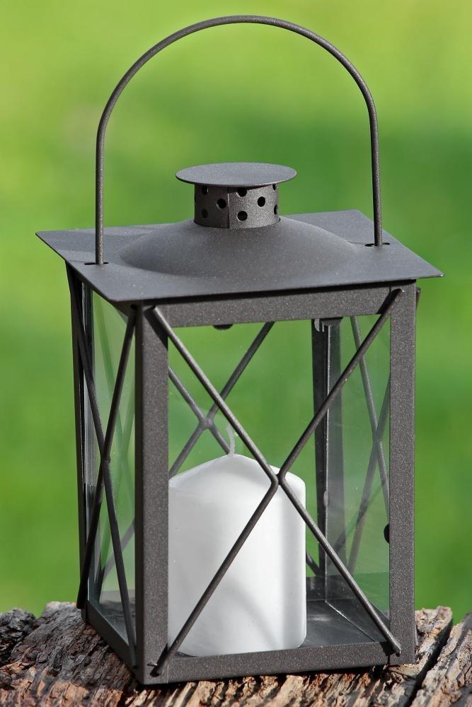 Laterne, Windlicht Farol mit Henkel in antikbraun aus Eisen, 1 Stück, Höhe ca. 20 cm 1 Stück Höhe ca. 20 cm Boltze Gruppe GmbH