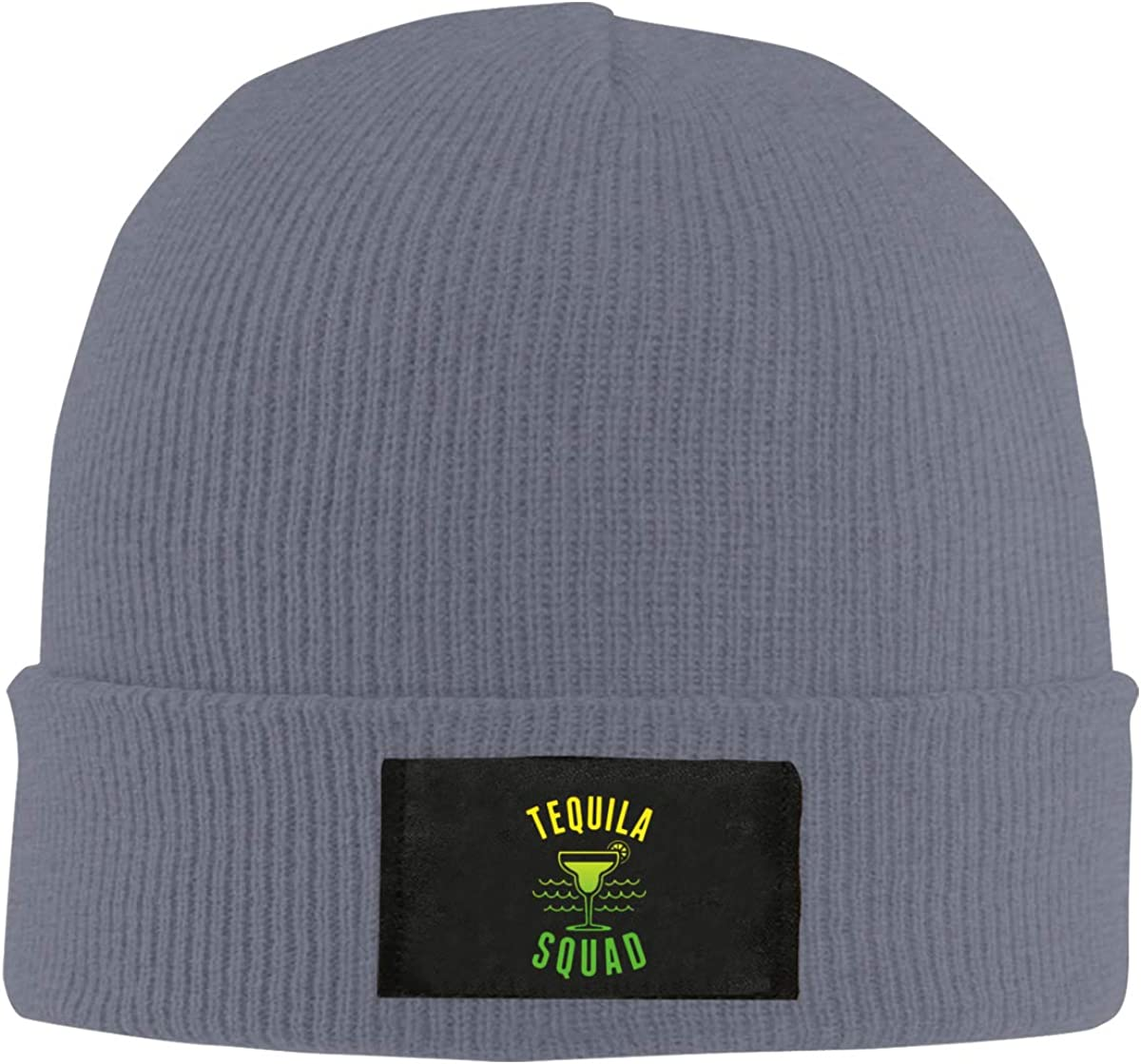 Unisex Stylish Slouch Beanie Hats Black Tequila Squad Top Level Beanie Men Women
