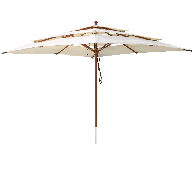 Anndora Three Layer Hard Wood Parasol Cantilever Parasol Parasol