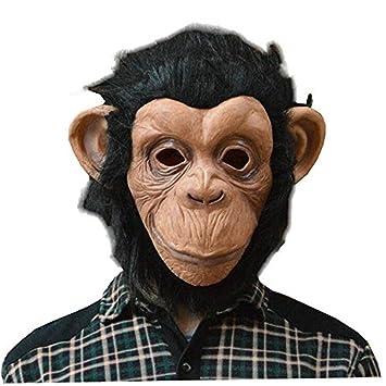 Máscara de Halloween 8888mall®, máscara de látex de animal, máscara de gorila, baile de máscaras de mono con boca enorme: Amazon.es: Hogar