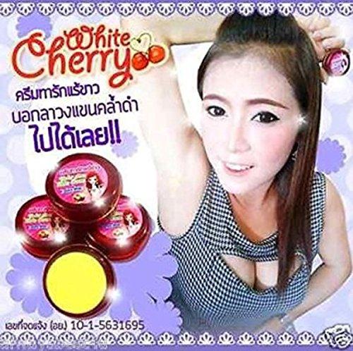3 Cherry Feminine Cream for Whitening Underarm Armpit Nipples Pink & Deodorant 5 G.