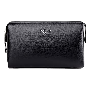 8c2a0d280780 Men Clutch Bag Leather Business Code Lock Wallet Handbag Wrist Bag ...