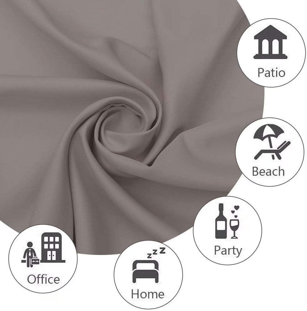 UniEco Rideaux dext/érieur pour Balcon Rideaux occultants avec /œillets Imperm/éable R/ésistant /à la moisissure Taupe Gris 132 x 215 cm