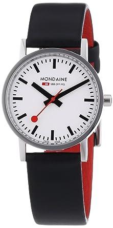Mondaine SBB Classic 30mm A658.30323.11SBB Reloj de pulsera Cuarzo Hombre correa de Cuero Negro: Amazon.es: Relojes