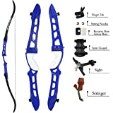 """SinoArt 68"""" Metal Riser Takedown Recurve Bow Adult Archery Competition Athletic Bow Weights 20-40Lbs Right Handed…"""