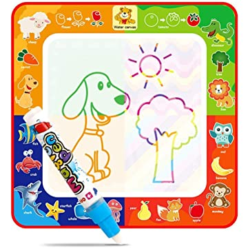 Ladiy Children Early Education Baby Cartoon Water Painting Cloth Graffiti Blanket Drawing & Sketch Pads
