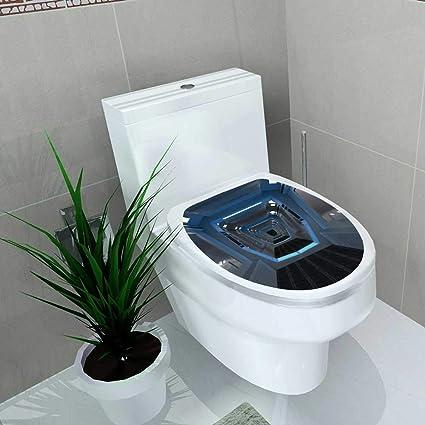 Amazon.com: Toilet Sticker Couloir intérieur futuriste Home ...