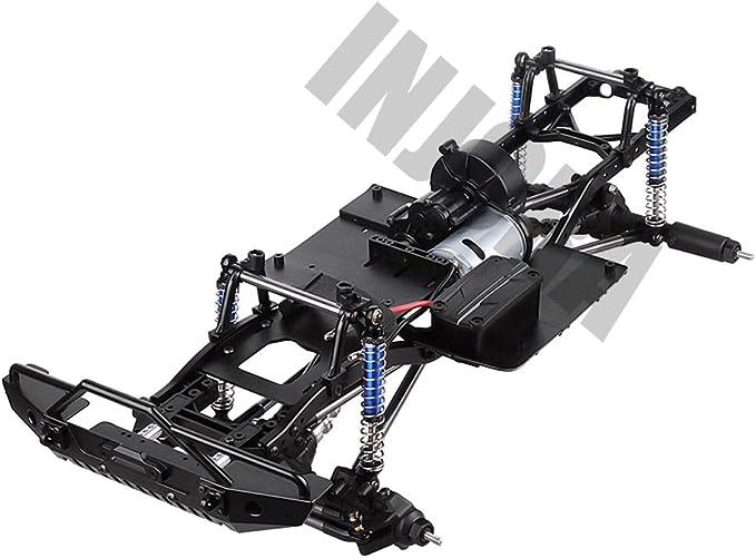 INJORA RC Marco 313mm Distancia Entre Eje RC Frame RC Chassis RC Accesorios con Rueda para 1:10 RC Crawler Axial SCX10 II