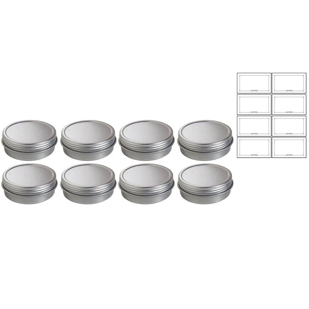 Amazon.com: 1 oz metal acero Estaño Flat contenedor con ...