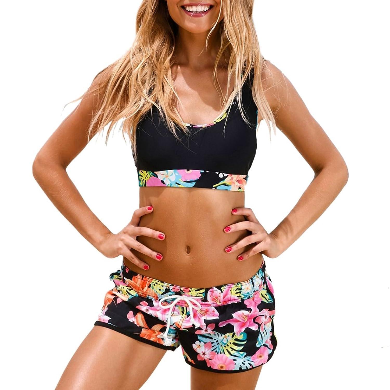 85d80cac50ef47 80%OFF iBaste Damen Push-Up Bikini Set Zweiteiler Badeanzug mit Boyshorts ·  30%OFF feiXIANG Frauen Hose Jeans Hot Pants Shorts Panty ...