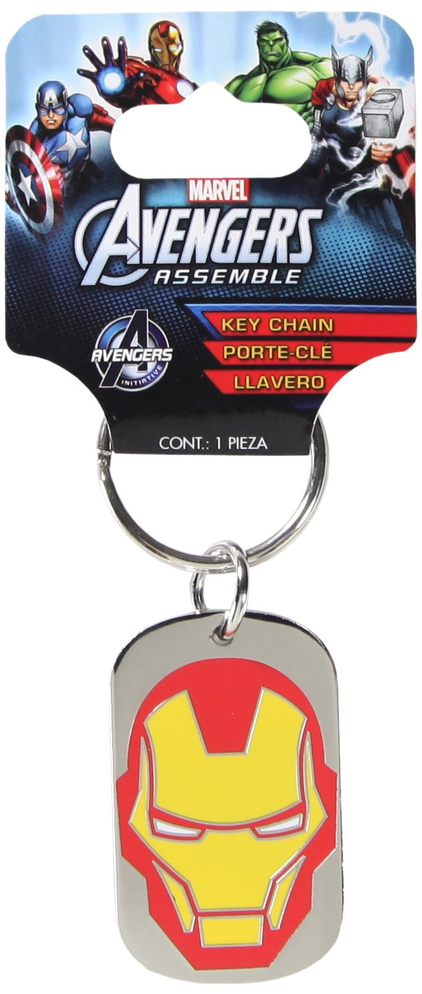 Plasticolor 004337R01 Marvel Iron Man Metal Keychain