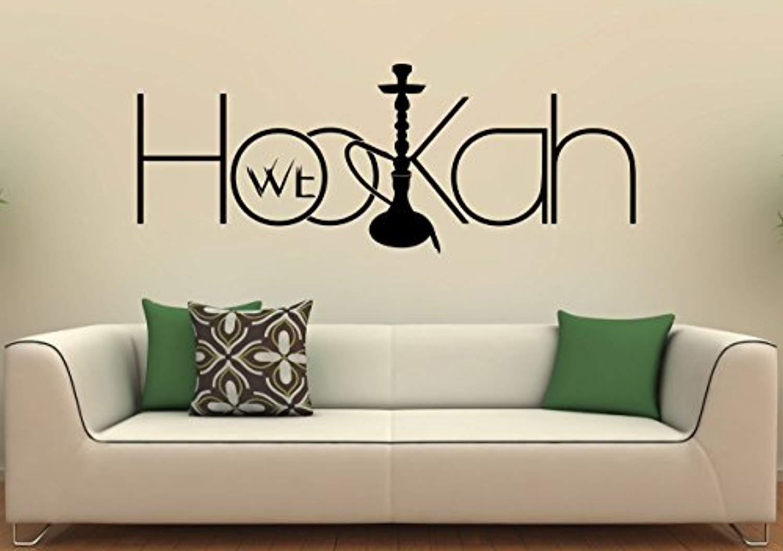 Resorv Decals Hookah Shisha Wall Decal Vinyl Sticker Arabic Culture Home Interior Art Murals Work Decor TT7710
