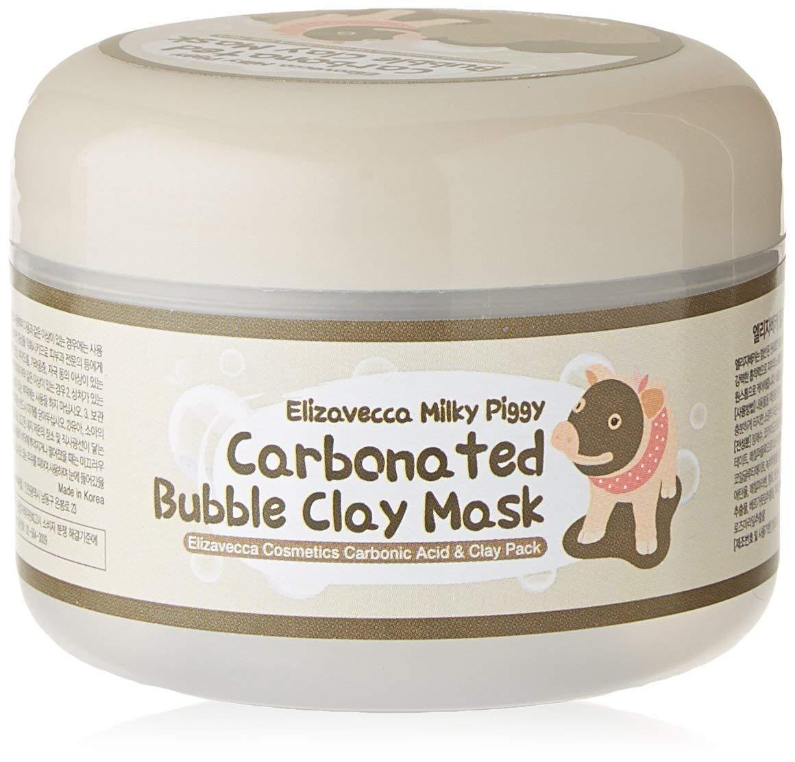 Elizavecca Milky Piggy Carbonated Bubble Clay Mask Beauty Secret Key Nature Recipe Pack Tea Tree 20g 3pcs