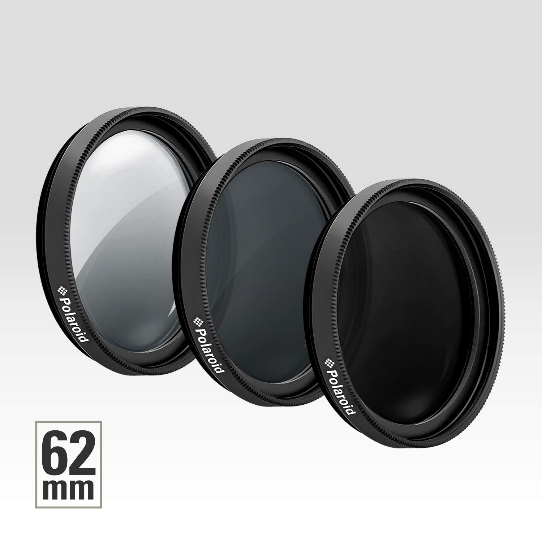 Ensemble de 3 filtres photo optiques pro Polaroid de 62mm de densit/é neutre ND ND3 ND9 ND6 avec /étui compris