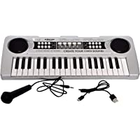 Toykart New 37 Keys Piano with USB Power Play, USB Included, and Microphone, Recording Function