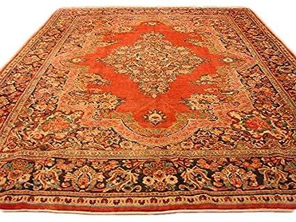 Amazon Com 11 X 14 Red Vintage Open Filed Handmade Sarouk