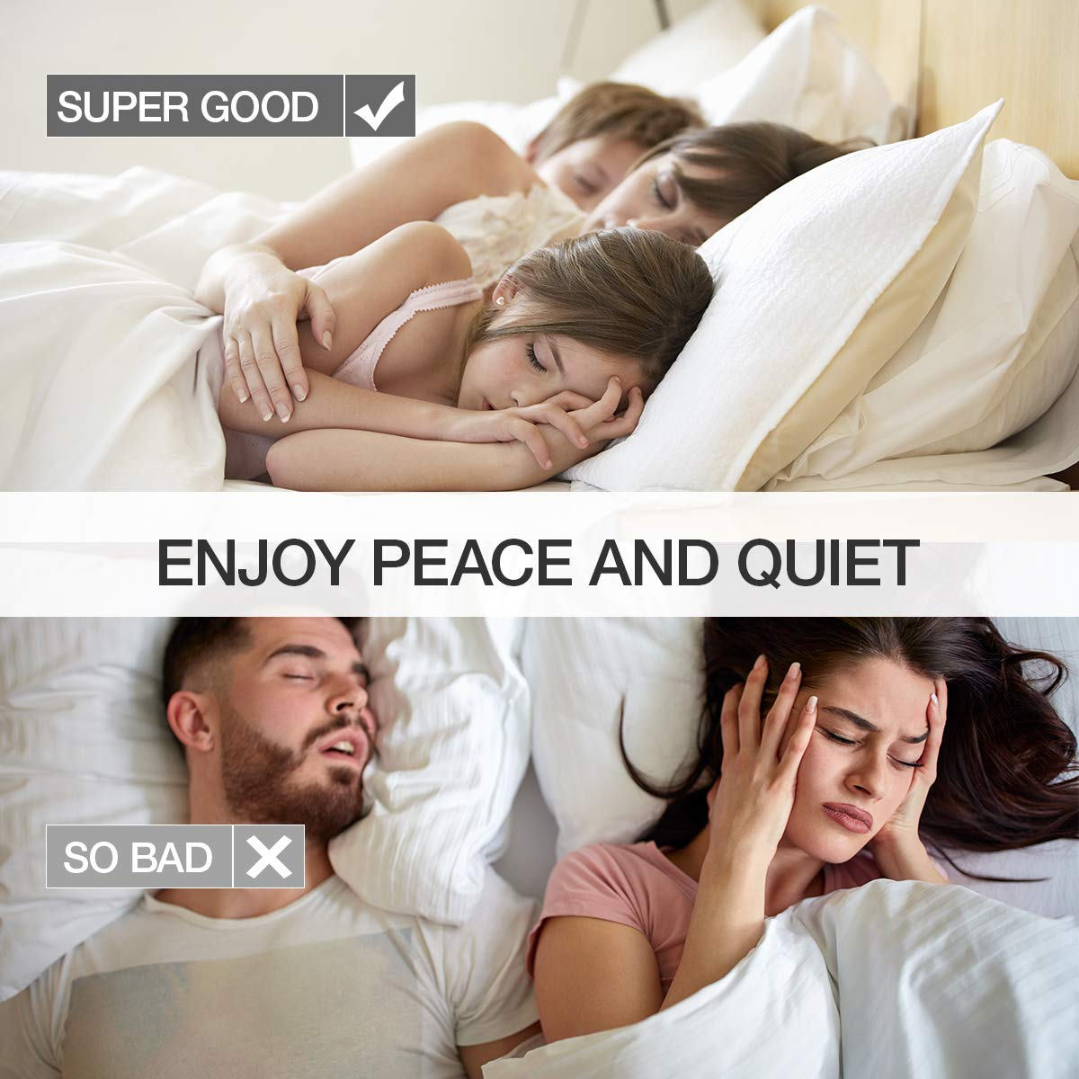 Soft Foam Ear Plugs 80 Pairs Earplugs - 34dB Highest NRR , Comfortable Ear Plugs for Sleeping, Snoring, Work, Travel & Loud Events