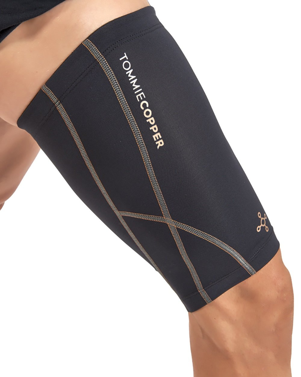 Tommie Copper Men's Performance Quad Sleeves 2.0, Small, Black by Tommie Copper (Image #2)