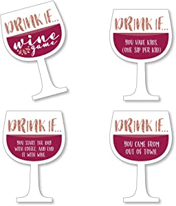 Drink If Game - But First, Wine - Wine Tasting Party Game - 24 Count