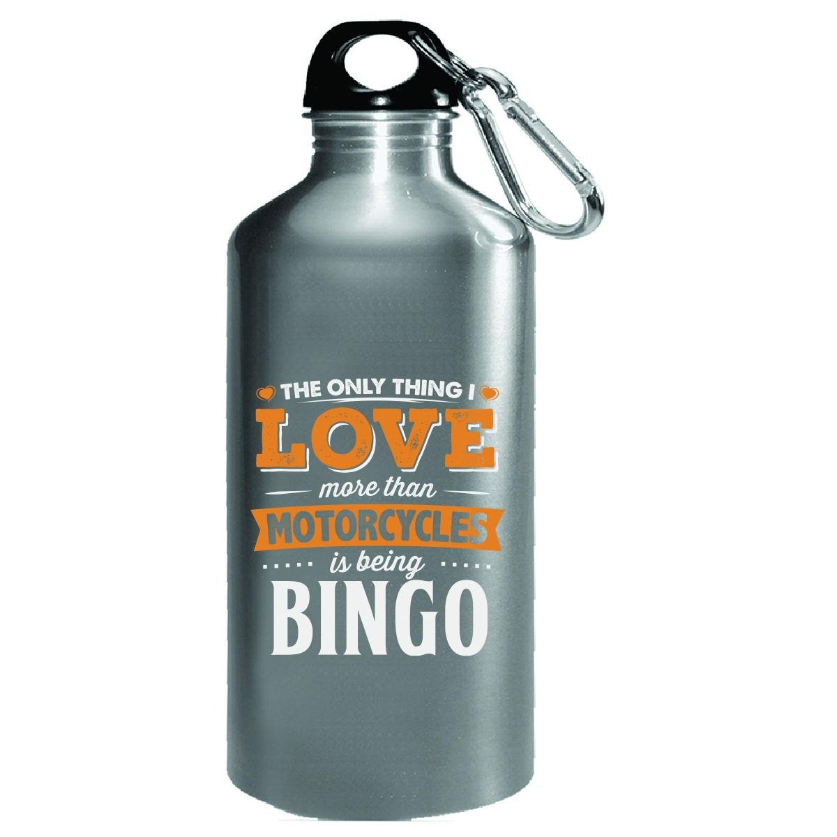 Love Being Bingo More Than Motorcycles Biker Gift - Water Bottle by My Family Tee