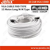 Jenix VGA 15Meter Cable Male To Male 15 PIN Computer Monitor, Projector, PC, TV ,DVR
