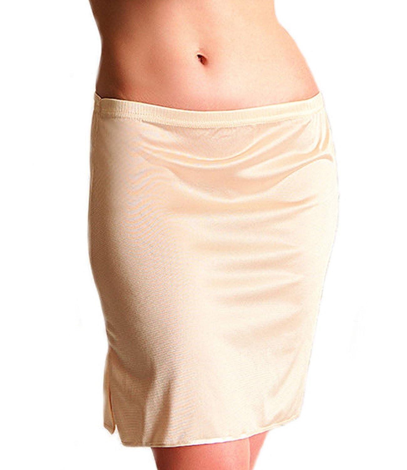 Unterrock Damen Kurz Beige Schwarz Jupon S M L XL Mini Rock Damen Zigma Fashion