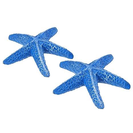 UEETEK 1 piezas estrella de mar estrella de mar de resina artificial de acuario para la