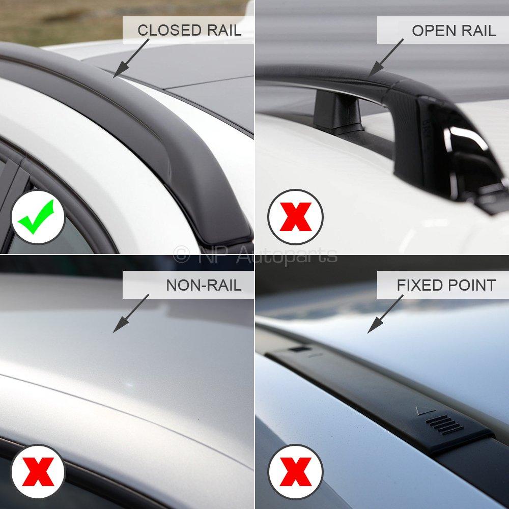 Modula MOCS0073-0383 Aluminium Silver Roof Bar Set Closed Roof Rails