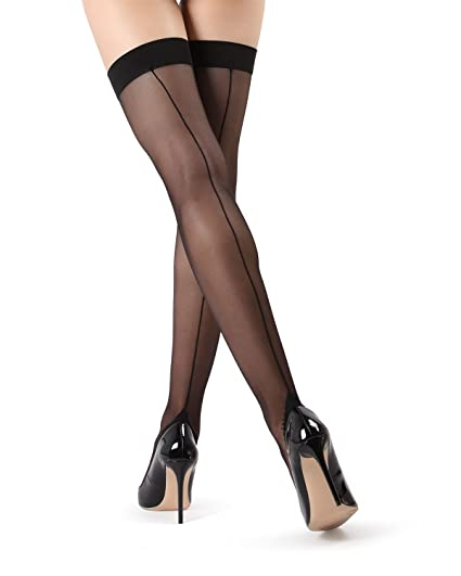 6a4213c3823ff MeMoi Back Seam Thigh Highs | Flirty Thigh High Stockings