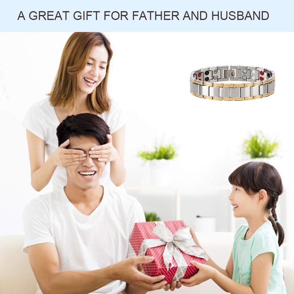 magn/étoth/érapie /à double r/ésistance en acier au titane Bracelet en acier au titane bracelet magn/étique bracelet pour hommes minceur