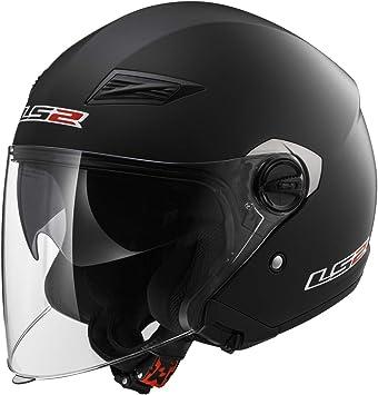 Matte Black - Medium LS2 Helmets Open Face Track Helmet