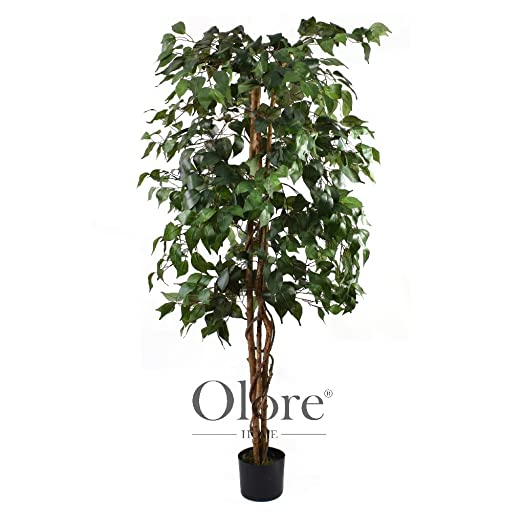 5ft green ficus tree indoor artificial tree by olore home