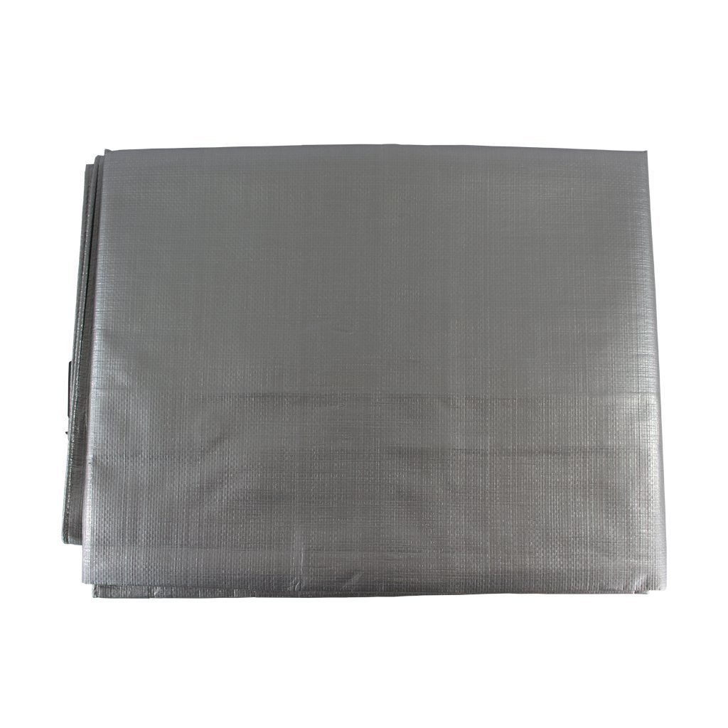 Waterproof Tarp 26 x 40 feet - SGT KNOTS - 10 mil Thickness - All Weather/Purpose Heavy Duty Silver Poly Tarp - Rust-Proof Grommets - for Camping, Hunting, Tent Fly, Painting, Canopy, Cover